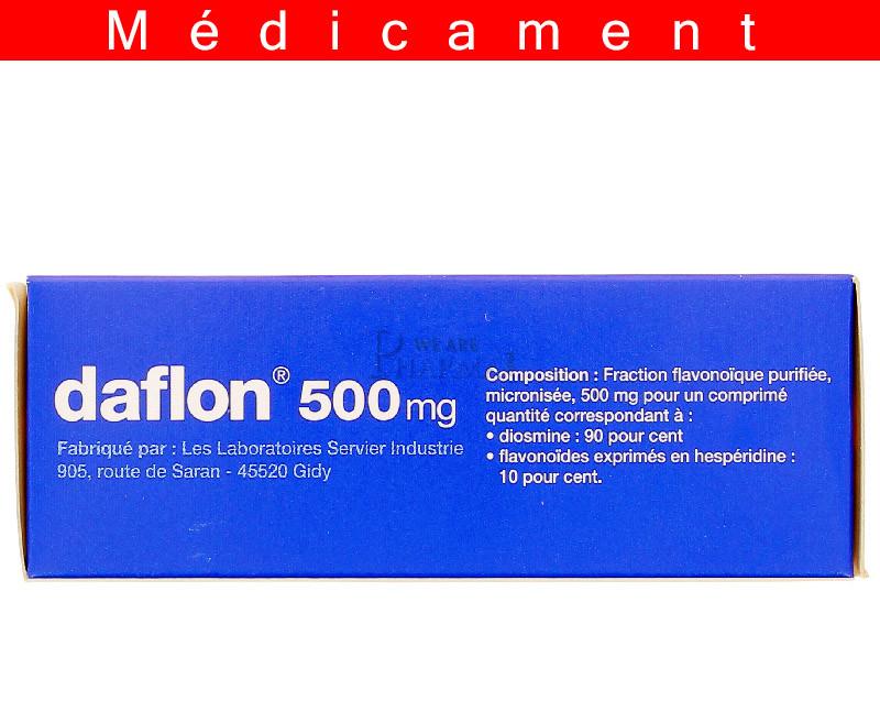 DAFLON 500 mg, comprimé pelliculé – 60 comprimés